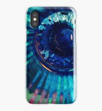 Staring Down the Bottle blue abstract iPhone Case