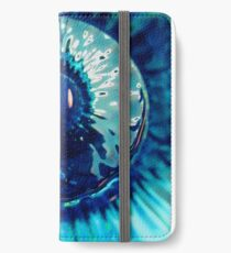 Staring Down the Bottle blue abstract iPhone Wallet/Case/Skin