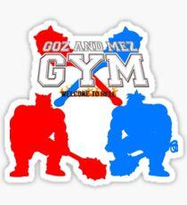 Goz and Mez Gym Sticker