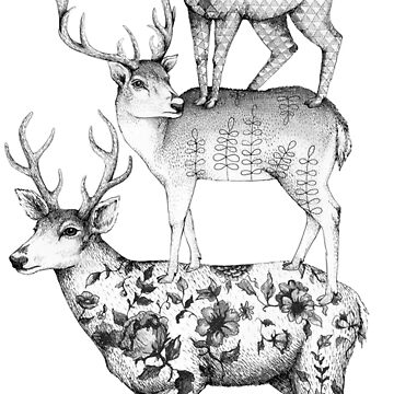 A Tower of Stags by linnw