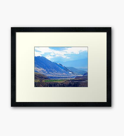 Oasis in the Mountains Framed Print