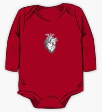 Heart, Anatomical, Drawing, Etching, Beat, Pulse One Piece - Long Sleeve