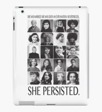 Nevertheless, She Persisted iPad Case/Skin