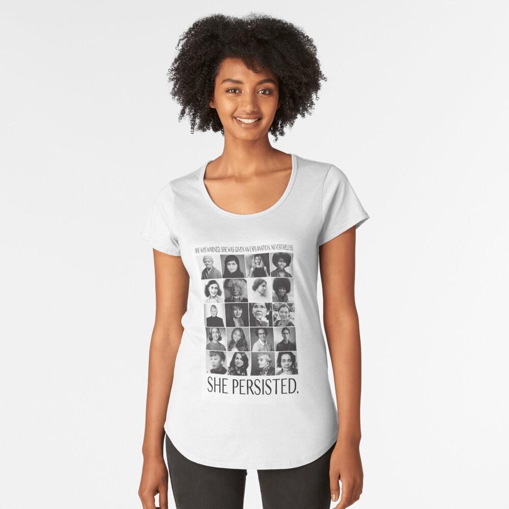 Sin embargo, ella persistió Camiseta premium de cuello ancho