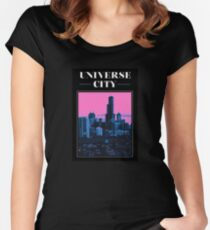 UNIVERSE CITY postcard Women's Fitted Scoop T-Shirt