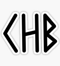 Camp Half Blood initial tee- Black text Sticker