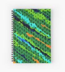 Knitted Blue Spiral Notebook
