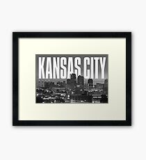 Kansas City - Cityscape Framed Print