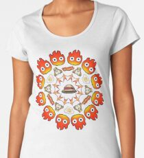 HOWL'S MOVING CASTLE MANDALA Women's Premium T-Shirt
