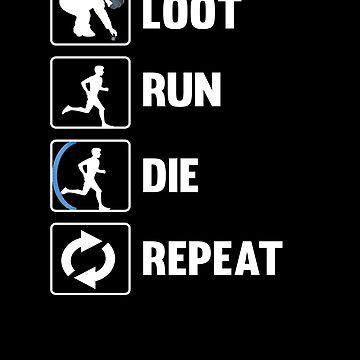 Loot Run Die Repeat Pubg by Daytone