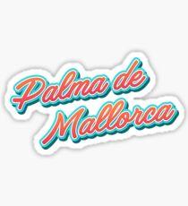 Palma de Mallorca es Typography Sticker