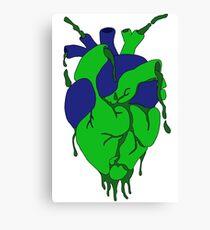 Earth Heart Bleeding Heart Design  Canvas Print
