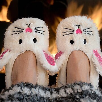 Winter Bunny Slippers by 14ktgold
