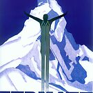 Vintage Swiss Ski Poster by mindydidit