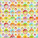 Happy Rainbow Dots by PatriciaSheaArt