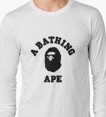 bape a bathing ape logo t-shirt Long Sleeve T-Shirt