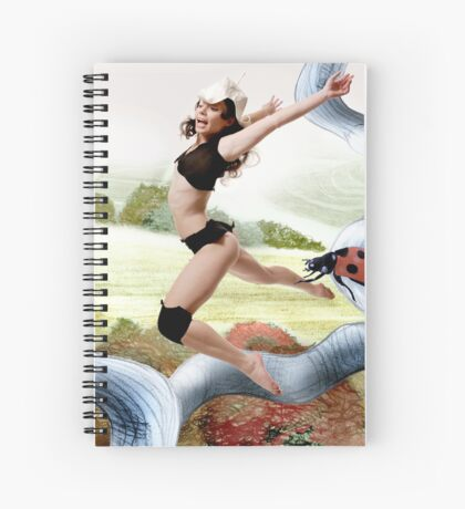 Welcome October in the Elf World Spiral Notebook
