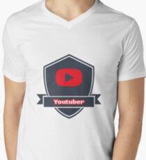 Youtuber Men's V-Neck T-Shirt