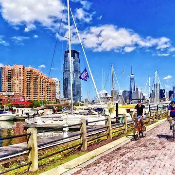 Bicycling Along Liberty Landing Marina by SudaP0408