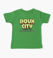 Sioux City, Iowa | Retro Stripes Baby Tee