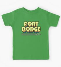 Fort Dodge, Iowa | Retro Stripes Kids Tee