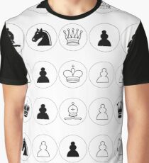 #Chess piece, #chessman, #king, #queen, #rooks, #bishops,  #knights, #pawns, #ChessPiece, #ChessBoard Graphic T-Shirt