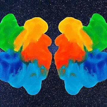 Tintenklecks Rorschachtest von TintenklecksArt