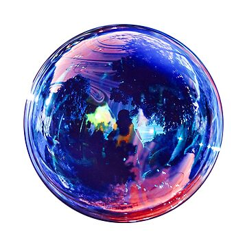 blue bubble sticker by picto-graph
