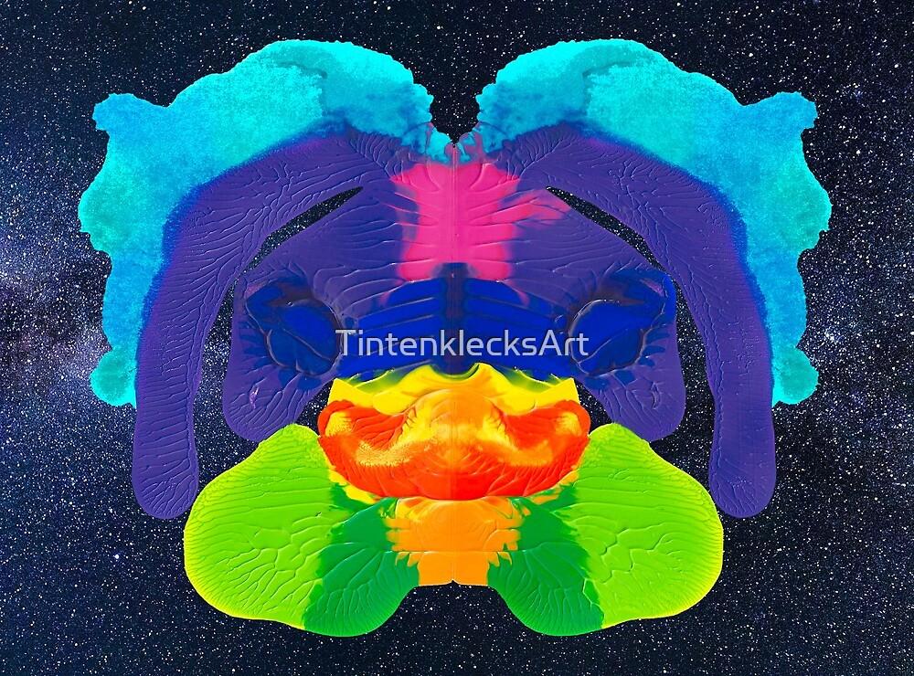 Delphin Rorschach von TintenklecksArt