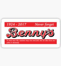 Benny's - Never Forget Sticker
