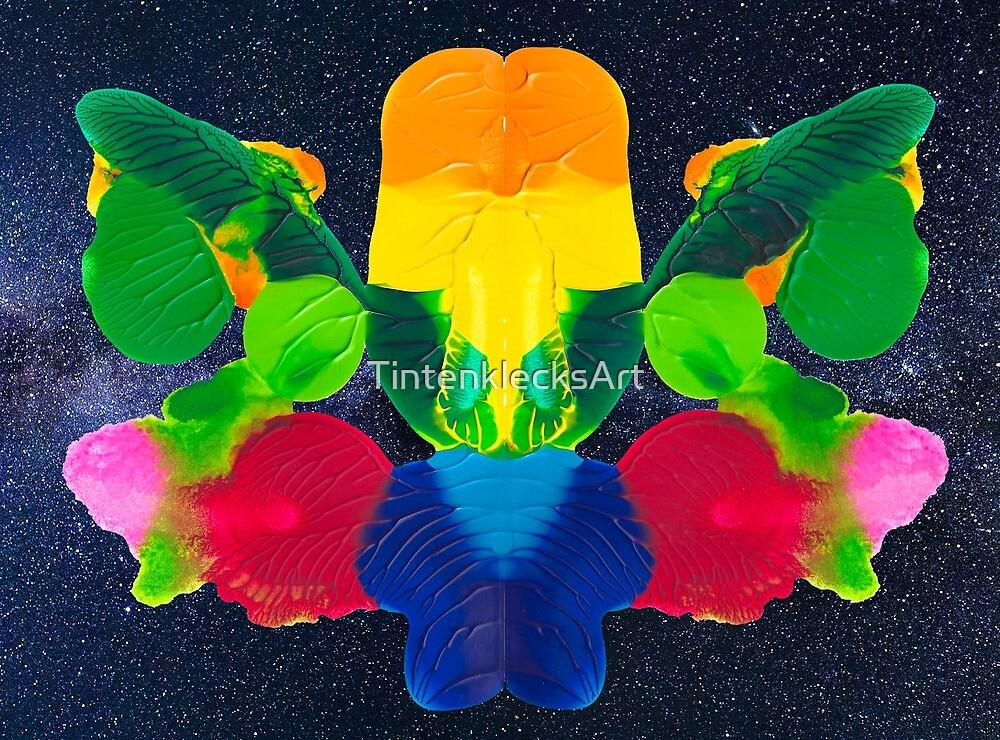 Blüten Pracht Rorschach von TintenklecksArt