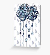 Abstract cloud Greeting Card