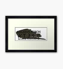 Sirius Azkaban Number Framed Print