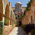 Mediterranean Monastery Courtyard by emele