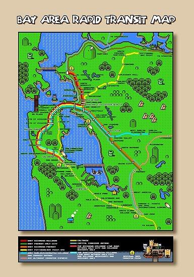 San Francisco Super Mario World Map\