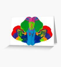 Rorschach Tintenklecks Grußkarte