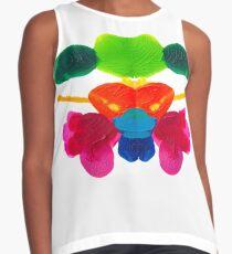 Blüten Tintenklecks Rorschach Kontrast Top