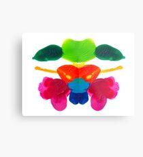 Blüten Tintenklecks Rorschach Metalldruck
