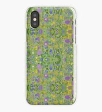 Klimt's Wildflower Meadow iPhone Case/Skin