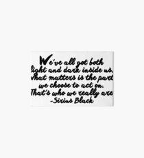 Sirius Black quote Art Board