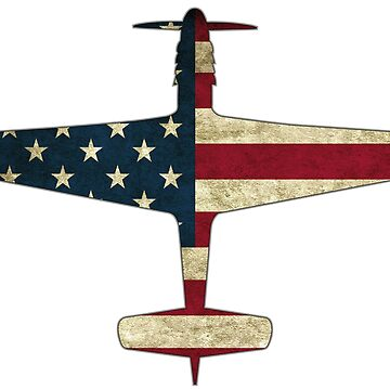 P 51 Mustang Fighter Aircraft Plane Warbird Plane US Flag Patriotic Veteran Gift by stearman