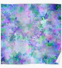 Chaotic Abstract Painting Poster