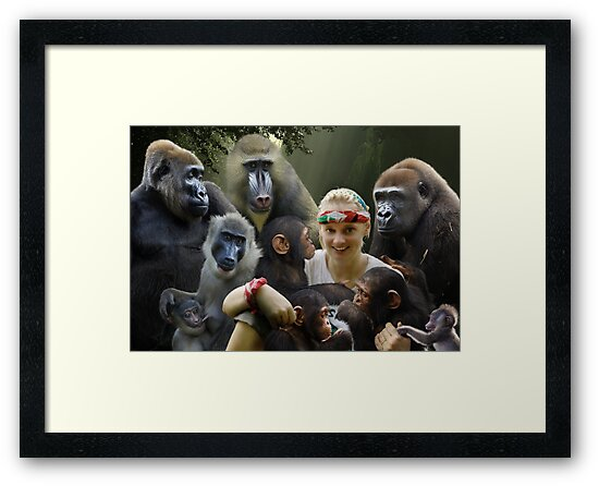 Jane and the Primates by ApeArt