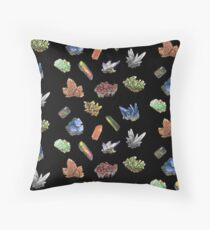 Small crystal collection 1 Throw Pillow