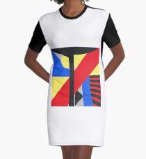 Warped Modernism Graphic T-Shirt Dress