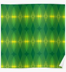 Abstract Neon Green Pattern Poster