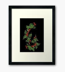 Black Holly Framed Print