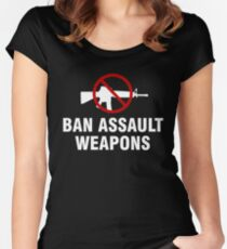 Ban assault weapons Women's Fitted Scoop T-Shirt