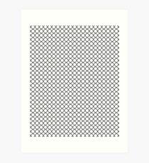 Black Quatrefoil with White Background Art Print