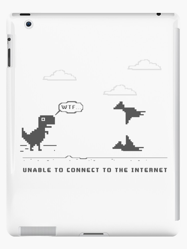 'unable to connect to the internet - WTF, GAMER OVER' iPad Case/Skin by  Katon Design